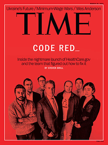 Time Magazine Cover, Mar 10, 2014, Code Red cover story