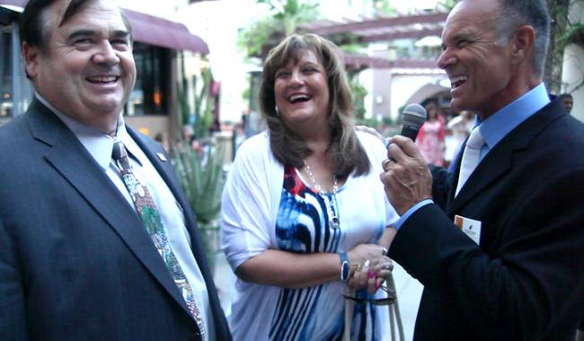 Al Nocita interviewing guests on the red carpet