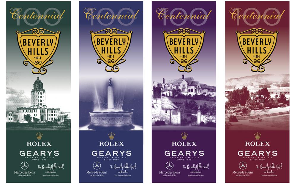 Beverly Hills Centennial banners