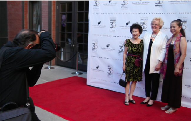 Betty McWilliams being photographed on the Red Carpet
