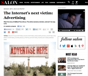 IT'S OFFICIAL: ADVERTISING IS DEAD! AGAIN!