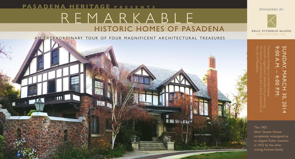 Pasadena Heritage, Historic Homes of Pasadena Tour Invitation