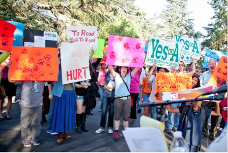 September 11 Rally at the Altadena Main Library