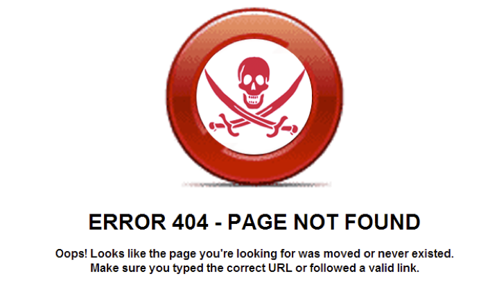 Skull and Crossbones 404 error
