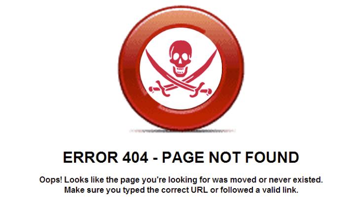 Skull and Crossbones 404 error