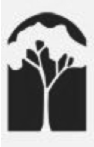 Original Black and White Pasadena Heritage logo featuring an arch framing a tree